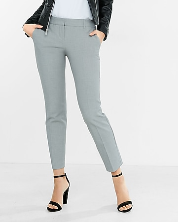 light gray columnist ankle pant