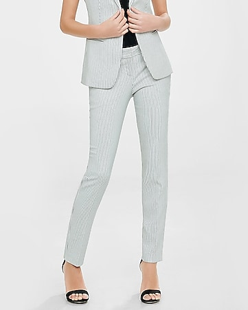 pinstripe low rise columnist ankle pant
