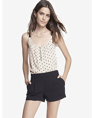 2 1/2 Inch Pleated Cuffed Soft Shorts