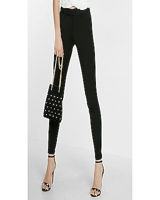 Express Womens Mid Rise Extreme Stretch Skinny Dress Pant