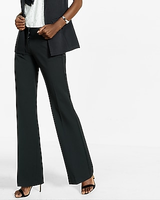 Express Womens Low Rise Wide Waistband Flare Editor Pant