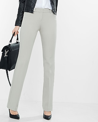Express Womens Low Rise Barely Boot Editor Pant Neutral 00 Short