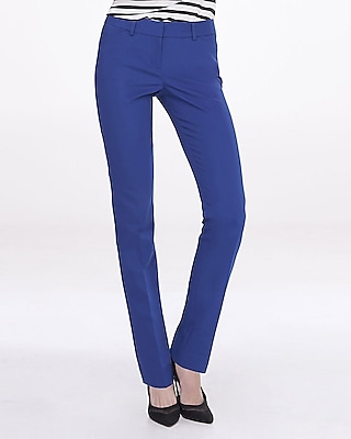 Express Womens Blue Slim Leg Editor Pant