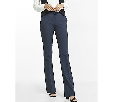 notch back slim flare editor pant
