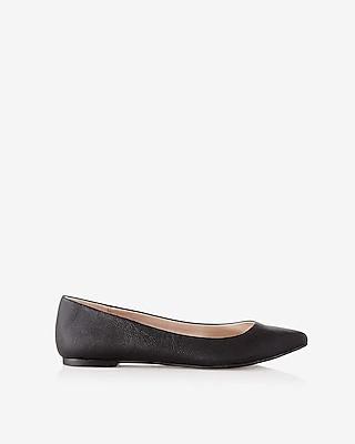 Express Womens Textured Pointed Toe Flats