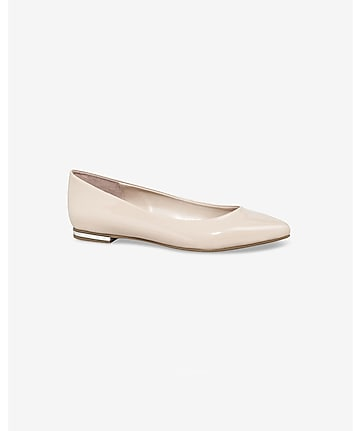 patent pointed toe flat
