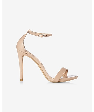 tan sleek heeled sandal