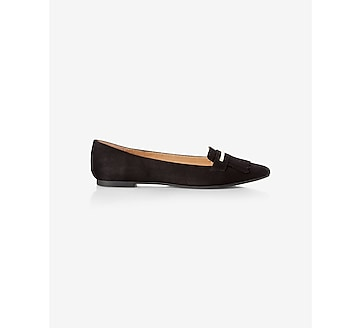 fringe pointed toe flat