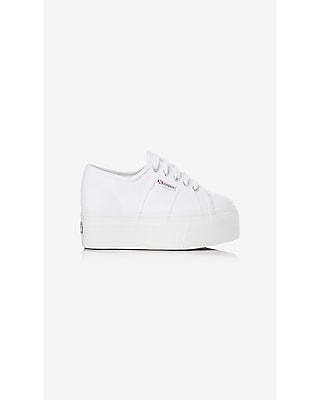 Express Womens Superga White Platform Sneaker