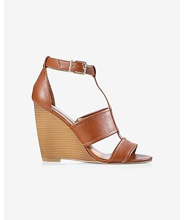 cognac wedge sandal