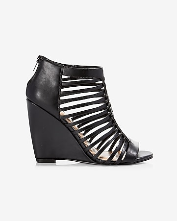 strappy cage wedge sandal