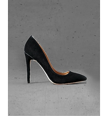 black suede express edition pointed toe pump
