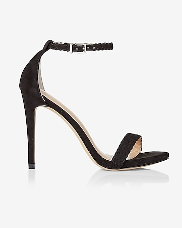 braided strap heeled sandal