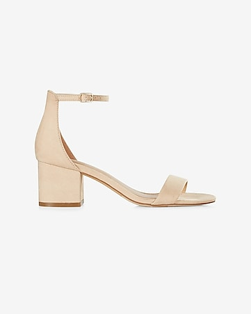 sleek low block heeled sandal