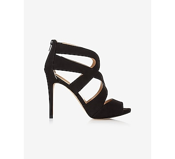 curved strappy heeled sandal