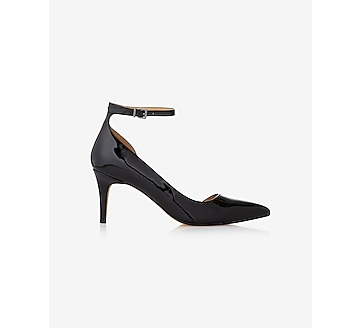 ankle strap pointed toe d'orsay pump