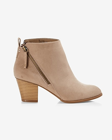 side zip heeled bootie