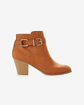 Express Womens Buckle Ankle Boot