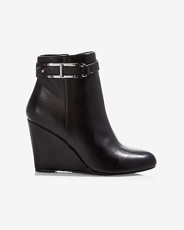 side zip wedge bootie