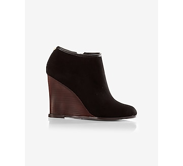 low wedge bootie