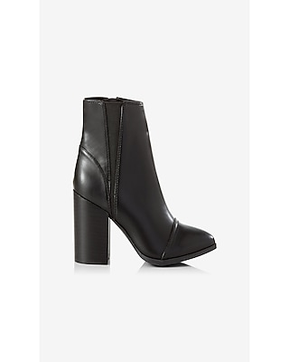 Express Womens Thick Heeled Side Gore Boot Black 6