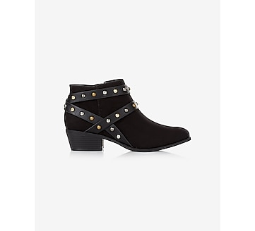 side zip studded bootie