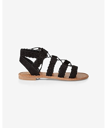 braided lace-up sandal