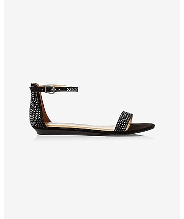 rhinestud sleek sandal