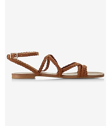 braided crisscross strap sandal