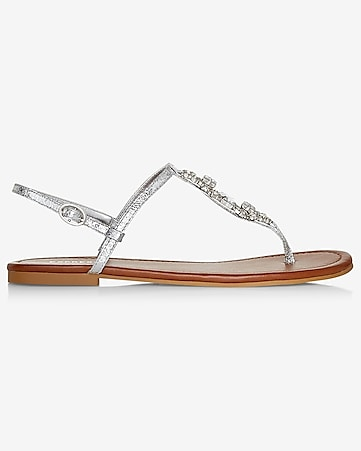 jeweled t-strap sandal