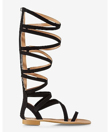 zip back midi gladiator sandal