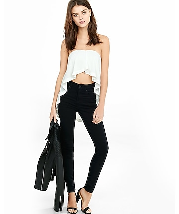 trapeze hi lo tube top
