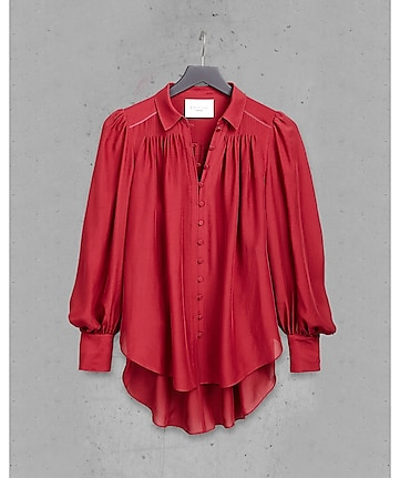 red express edition silk chiffon poet blouse