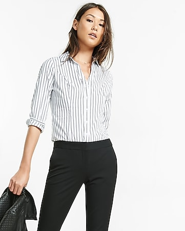 striped long sleeve essential shirt