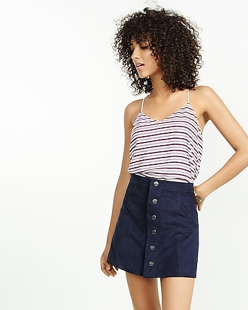 red white and blue striped barcelona cami