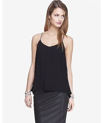 accordion pleated cami