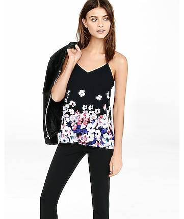 placed floral barcelona cami