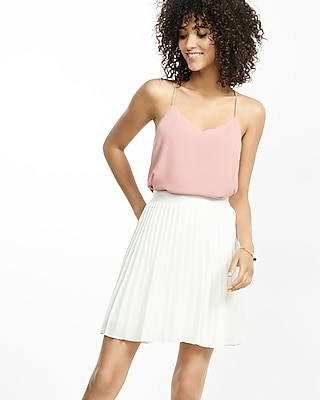 Express Womens Scallop Trim Reversible Barcelona Cami Pink X Small