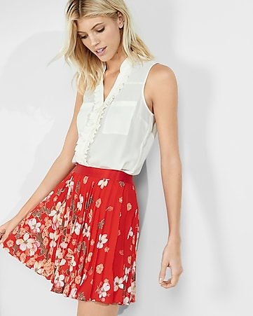 original fit ruffle sleeveless portofino shirt