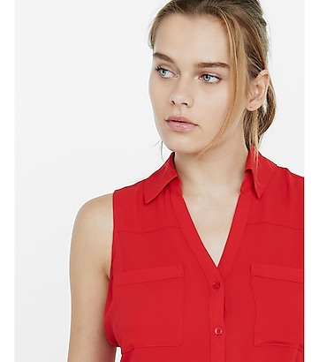 original fit sleeveless portofino shirt