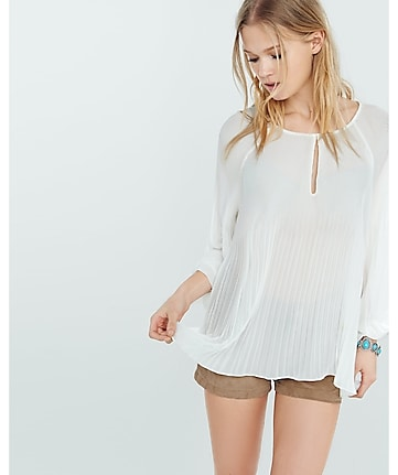 soft pleated blouse