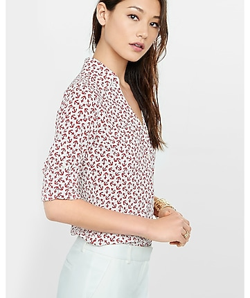 original fit outlined anchor print portofino shirt