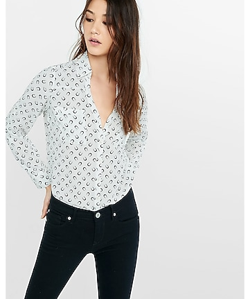 original fit horseshoe print portofino shirt