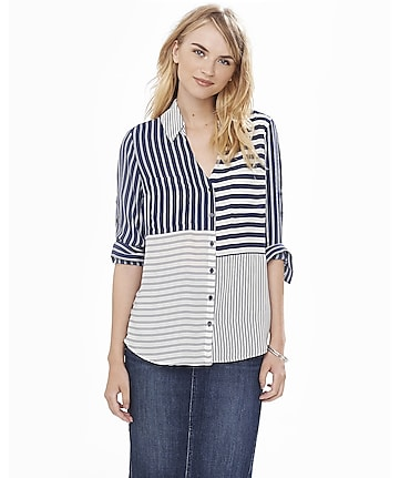 original fit mixed stripe portofino shirt