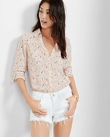 original fit sunbather print portofino shirt