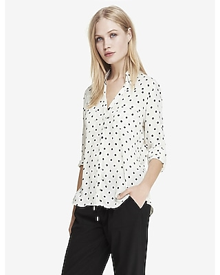 original fit polka dot portofino shirt