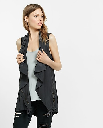 sleeveless drapey anorak