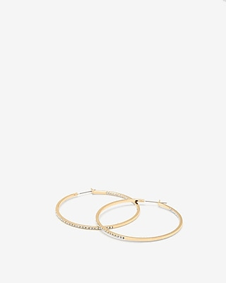 EXPRESS Women's Jewelry Pave Hoop Earrings