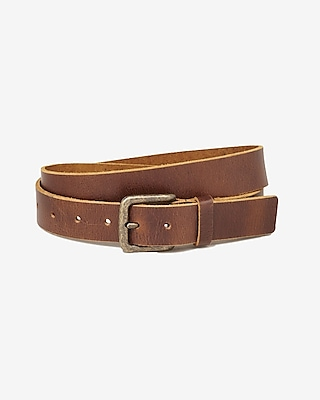 BROWN BUFFALO LEATHER BUCKLE BELT