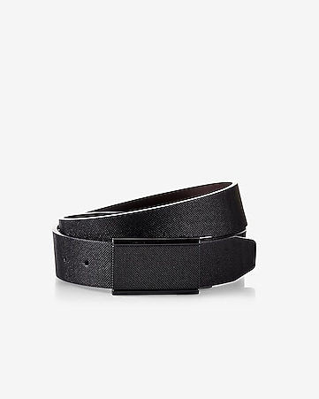 textured matte black plaque belt